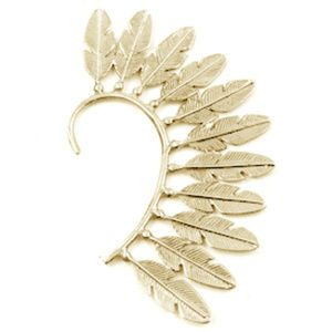 Boho Brass Eagle Feather Ear Cuff